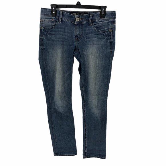 Express Jeans Size 4 Stella Low Rise Cropped Skinn